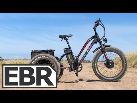 AddMotoR MOTAN M-350 Video Review - $2.6k Electric Fat Trike with Throttle and Lights