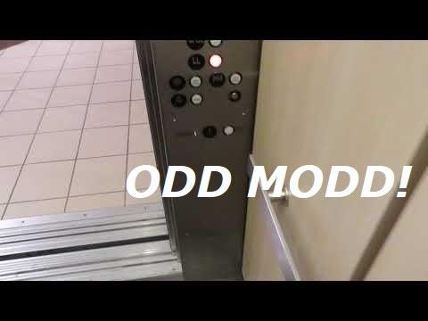 "Mont""Dover""y hydraulic elevator at Nebraska Furniture mart, Omaha NE"