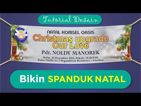 Tutorial Bikin Spanduk Banner Natal