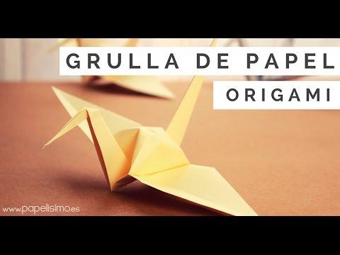 C mo hacer grulla de papel origami papiroflexia youtube - Papiroflexia paso a paso ...