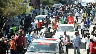 Protests over election results in Haiti turn violent