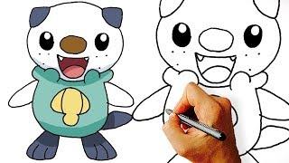 How to Draw Cute Oshawott Pokemon Step by Step.