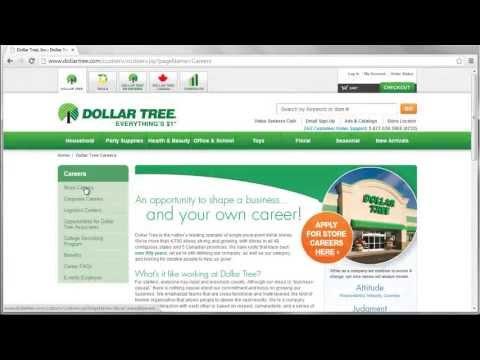 Dollar Tree Application Online Video