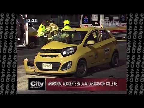 Cinco extranjeros heridos por choque entre taxi y una camioneta  | City TV