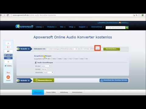 Wie kann man APE in MP3 umwandeln?