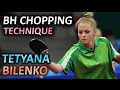Slow Motion Bilenko Tetyana BH chopping technique, МСМК Татьяна Биленко техника подрезки слева