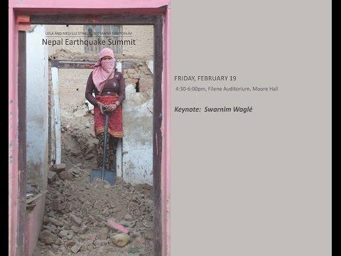 Nepal Earthquake Summit:  GOVERNMENT RESPONSE KEYNOTE ADDRESS