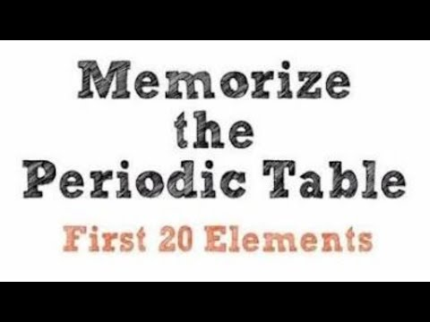 memorize periodic table first 20 elements in 20 seconds hindi by dreams unlimited - Periodic Table First 20 Elements Atomic Number