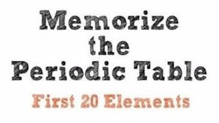 Must watch........memorize periodic table first 20 elements in second very fast for life time poetic way........ take this quick and easy challenge and...