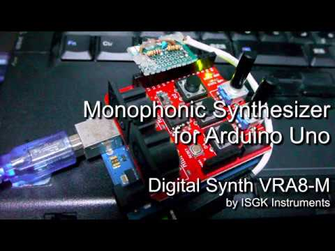 Arduino Synth controlled by MIDI Shield