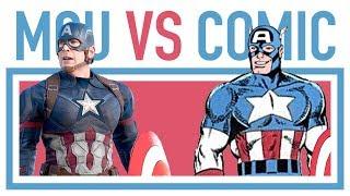 MARVEL COMICS VS MCU CHARACTERS • All comic comparisons #32