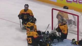 HIGHLIGHTS: USA v Germany   2017 World Para Ice Hockey Championships