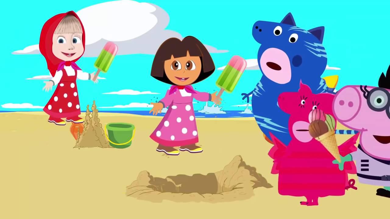Картинки маша и медведь свинка пеппа вместе