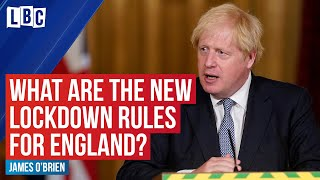 James OBrien explains Englands latest lockdown rules with Theo Usherwood