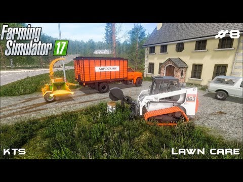 Tree removal and making wood chips | Lawn Care | Farming Simulator 2017 | Episode 8 thumbnail
