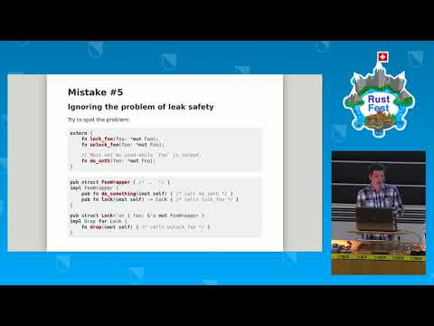 RustFest Zürich 2017 - Mistakes to avoid when writing a wrapper around a C library by Pierre Krieger