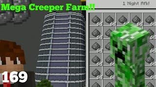The ULTIMATE Creeper Farm Skyscraper In Minecraft Bedrock Edition!!-BlockSMP Season 3,Episode 169
