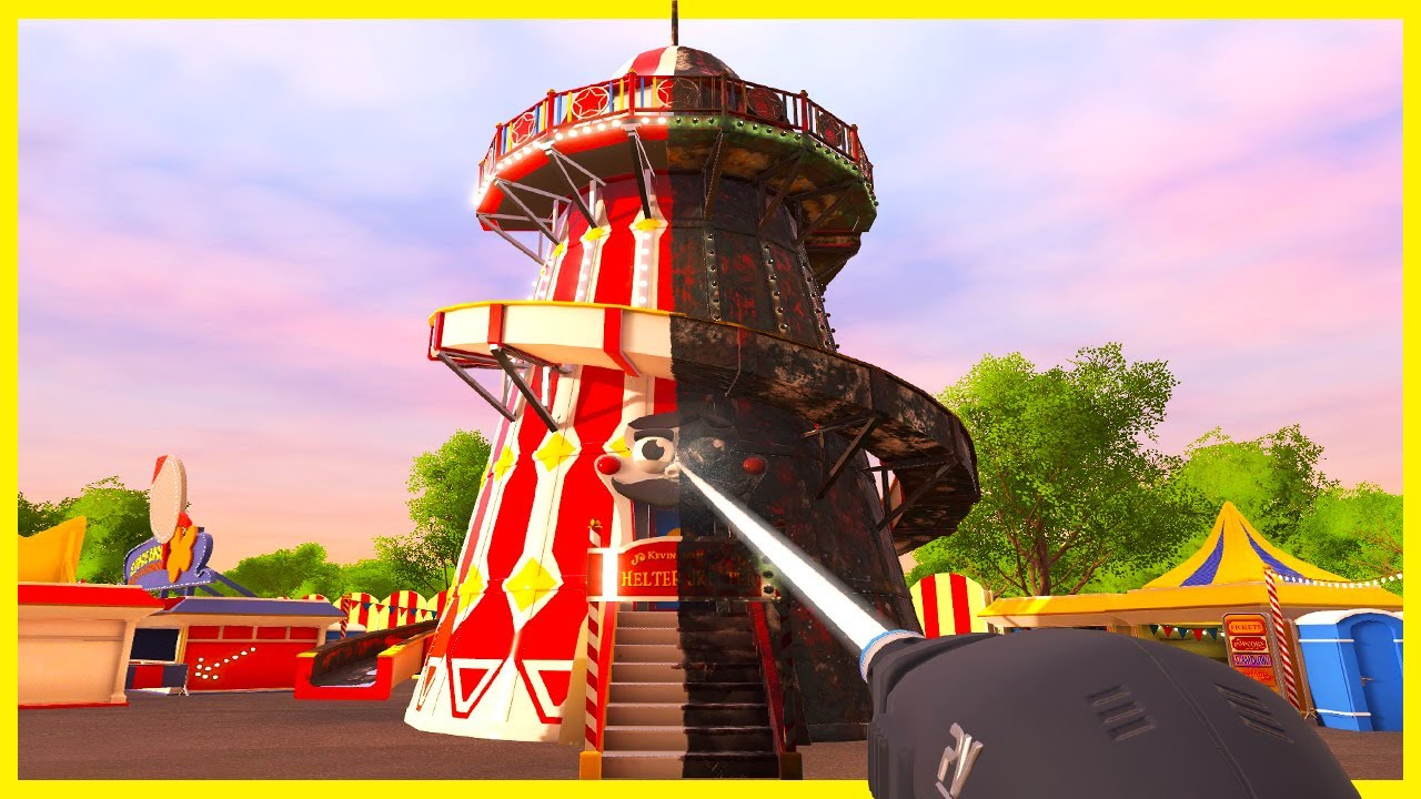 Download Cleaning Decades of Filth off of an Abandoned Amusement Park Ride - PowerWash Simulator