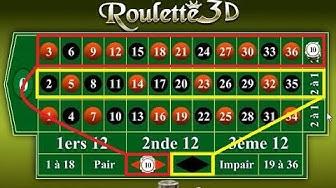 Stratégie pour gagner à la roulette, en sachant combiner couleurs et colonnes.