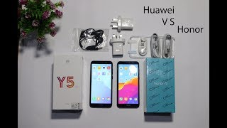 Huawei Y5 Prime 2018 VS Honor 7s Detailed Review with Comparison