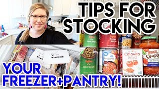 HOW TO KEEP A STOCKED PANTRY + FREEZER ❄ PANTRY ESSENTIALS AND FREEZER TOUR
