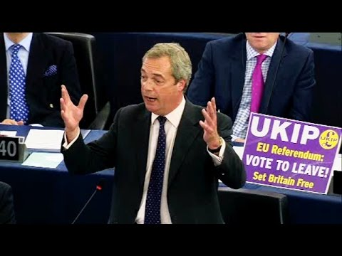 We're living in a German-dominated Europe of Disharmony - UKIP Leader Nigel Farage