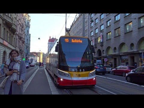 [Prague] Tram CKD + Skoda + Bus SOR - Dlouhá Třída