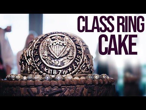 Class Ring Cake: Aggie Ring Grooms Cake