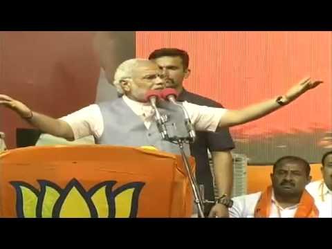 Live: Narendra Modi rally in Bangalore, Karnataka