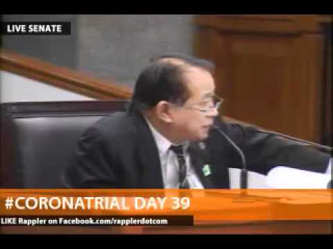 Enrile declares Santos as hostile witness