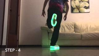 How to Shuffle   ( Cutting Shapes Tutorial #1 Advanced ) - Guerrero Jah (KONIJNENDANS) Led Shoes