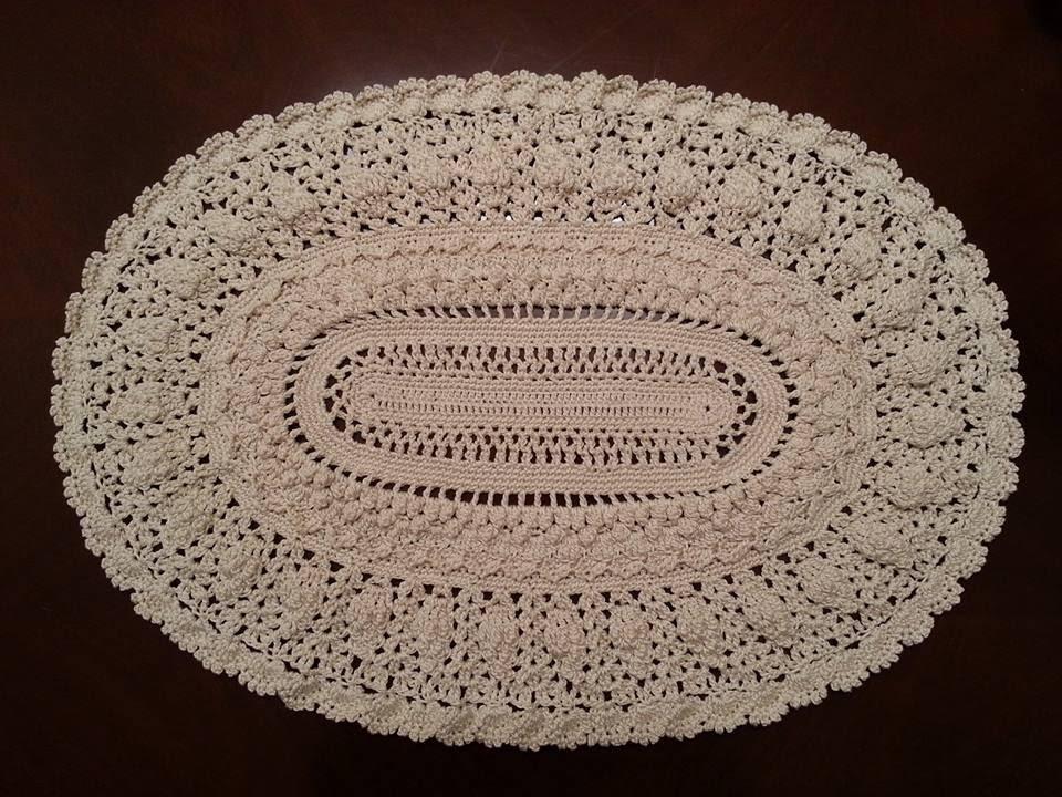 Free Pattern Crochet Oval Doily : Crochet Doily - Elegant Oval Doily Part 6 - YouTube