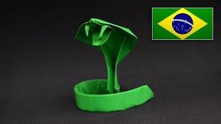 Origami: Serpente - Instruções em português PT BR