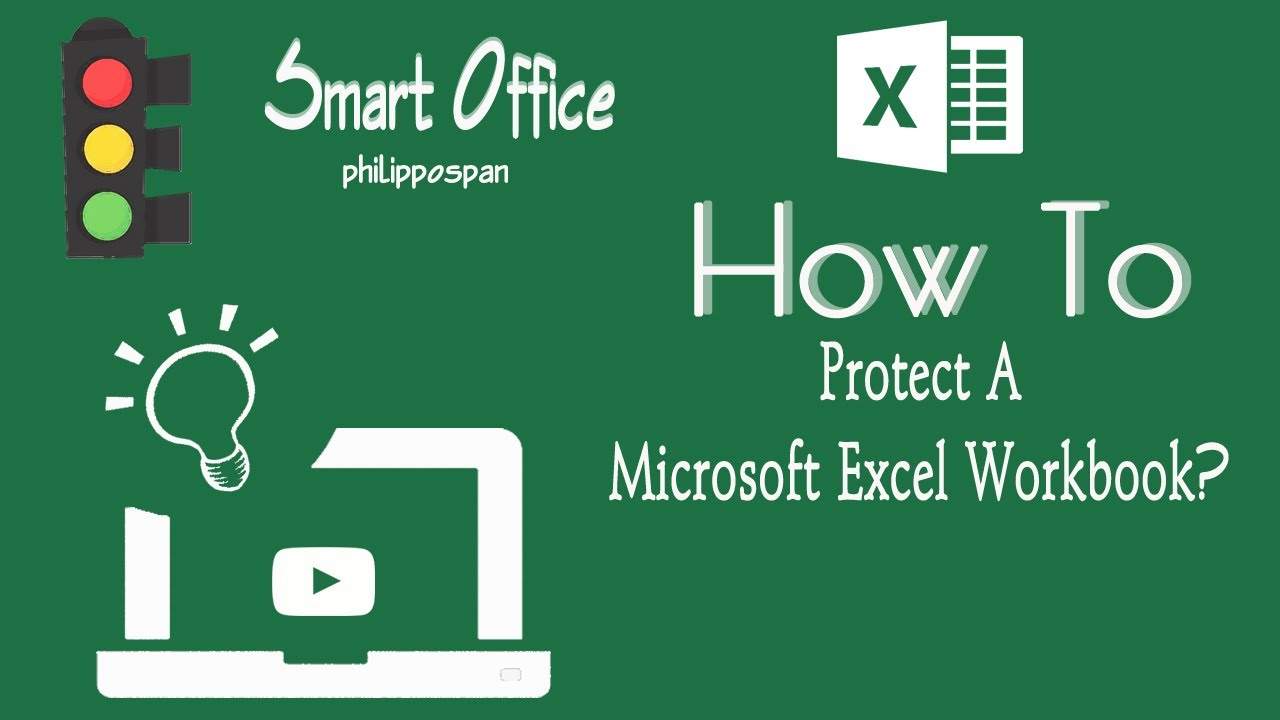 Protect An Excel 2016 Workbook - YouTube