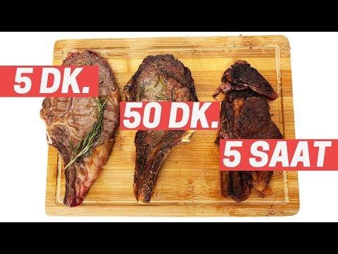 Hangisi Daha Lezzetli? - Eti 5 dakika 50 dakika 5 saat Pişirdik