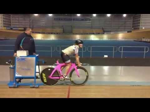 Slow motion standing start Lizanne Wilmot