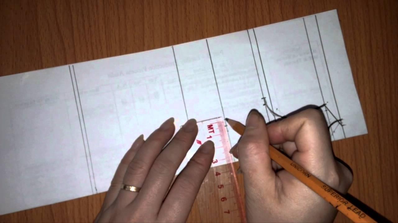 Hướng dẫn cách cắt thân trước váy liền chữ A 7 mảnh_How to cut 7 piece skirt?