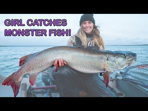 GIRL CATCHES MONSTER FISH! (Eagle Lake North Shore Lodge) 3 MUSKIES