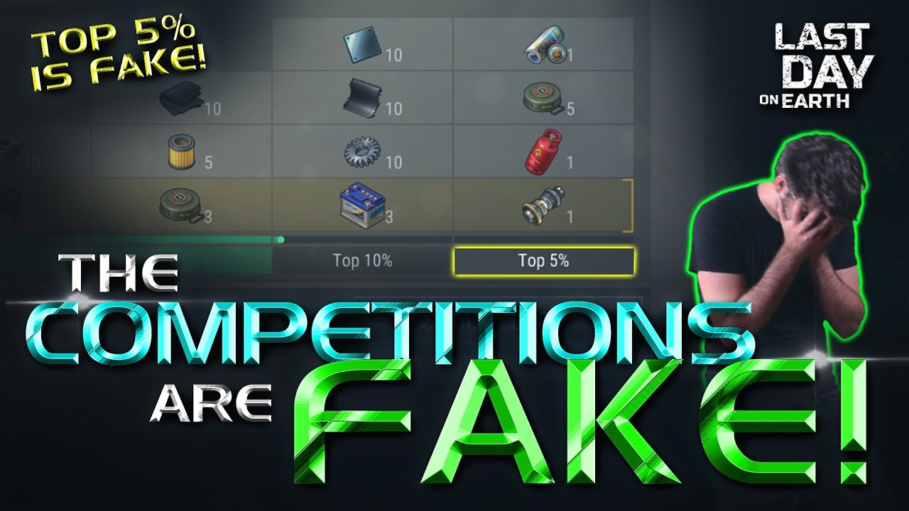 Last Day on Earth exposed for Fake Competitions! Top 5% Fort Moss & Christmas