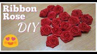 DIY Bunga Mawar dari Pita Satin Ribbon Rose DIY