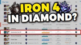 THIS RUSSIAN IRON 4 PLAYER'S MMR IS SO LOW HE DOESN'T GAIN LP DESPITE PLAYING WITH DIAMONDS