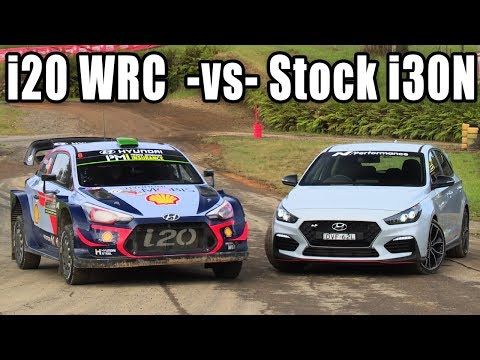 Stock i30N vs 380hp i20N WRC Rally Car on the same course!