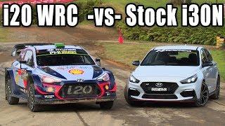 Stock i30N vs 380hp i20N WRC Rally Car on the same course!