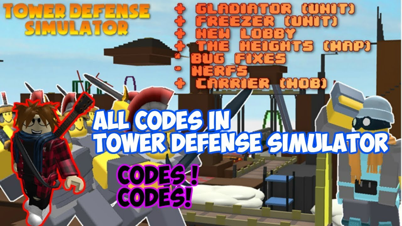 [WORKING] ALL CODES IN TOWER DEFENSE SIMULATOR! Roblox Tower Defense  Simulator