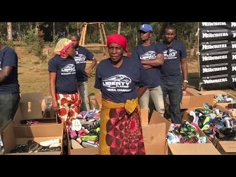 Ntibonera Foundation 2017 shoes for Congo with Stephen Curry