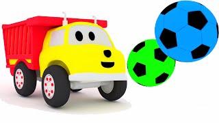 Jogar futebol, marcar um gol e aprender as cores com Ethan o caminhão de despejo