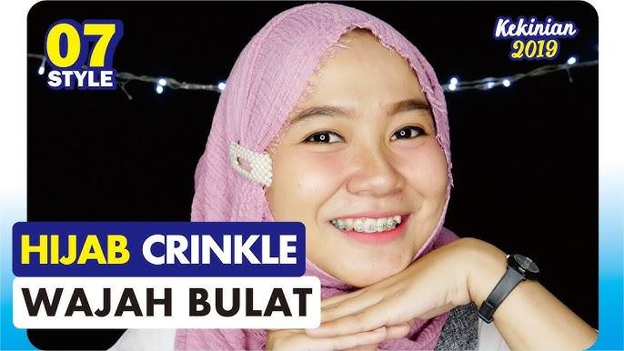 Tutorial Hijab Crinkle Untuk Wajah Bulat Youtube