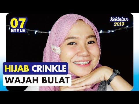 Tutorial Hijab Crinkle Untuk Wajah Bulat