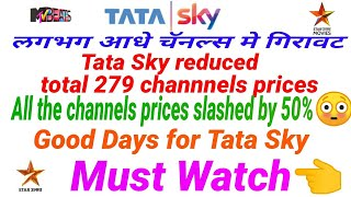 Tata Sky reduced 279 channels prices w.e.f. 29th November 2018