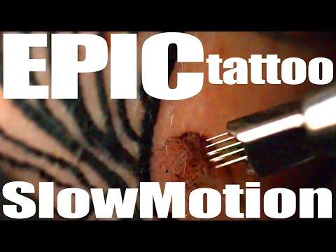Best Tattoo in Ultra Slow Motion